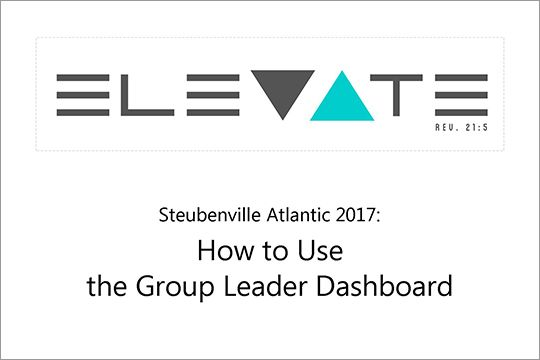 How to use the Group Leader Dashboard